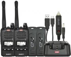 GME-2W05W-80Ch-UHF-CB-Handheld-Radio-Twin-Pack on sale