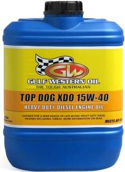 Gulf-Western-Top-Dog-XDO-Diesel-15W40-10Lt on sale