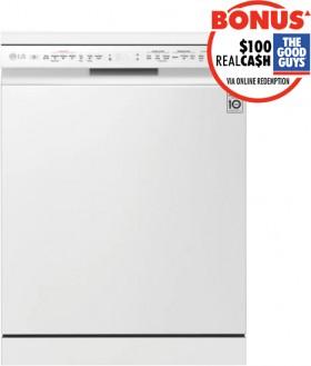 NEW-LG-QuadWash-TrueSteam-Dishwasher-White on sale