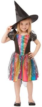 Rainbow-Witch-Costume-Ages-4-6 on sale