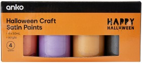 4-Pack-Halloween-Craft-Satin-Paints on sale