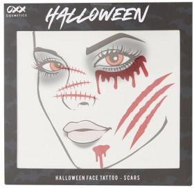 OXX-Halloween-Face-Tattoo-Scars on sale