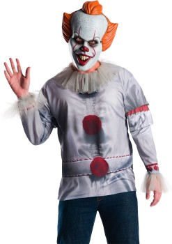 30-off-Spooky-Hollow-Adult-Pennywise-Costume-Top on sale