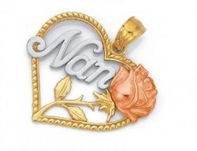 9ct-Gold-Tri-Tone-Nan-Heart-Pendant on sale