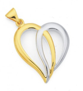 9ct-Gold-Two-Tone-Pendant on sale