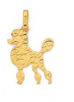 9ct-Gold-Poodle-Dog-Pendant on sale