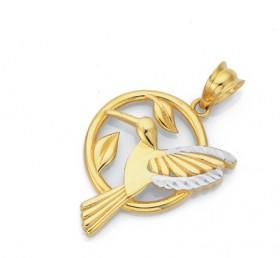 9ct-Gold-Hummingbird-Pendant on sale