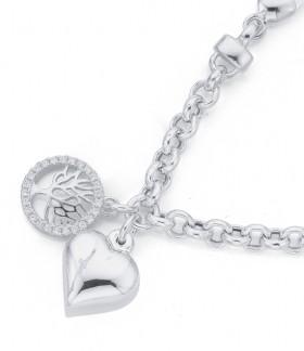 Sterling-Silver-Cubic-Zirconia-Italian-Made-Bracelet on sale