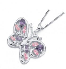Sterling-Silver-Butterfly-Pendant on sale