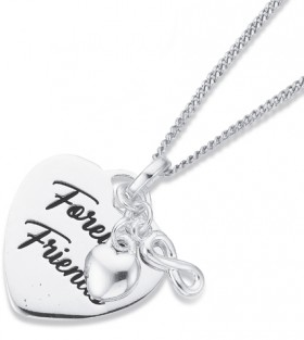 Sterling-Silver-Forever-Friends-Heart-Pendant on sale
