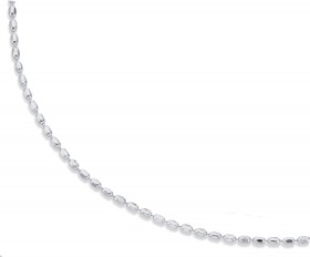 Sterling-Silver-60cm-Dia-Cut-Oval-Bead-Chain on sale