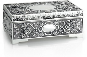 Silver-Plated-Rose-Jewellery-Box on sale