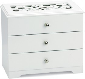 White-Two-Draw-with-Lid-Jewellery-Box on sale