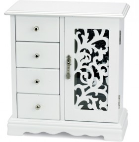 Four-Draw-Jewellery-Box-with-Door on sale