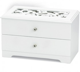 White-Filigree-One-Draw-with-Lid-Jewellery-Box on sale