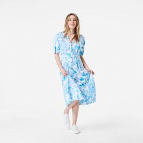Short-Sleeve-Button-Front-Midi-Dress on sale