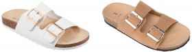 Double-Buckle-Footbed-Slides on sale