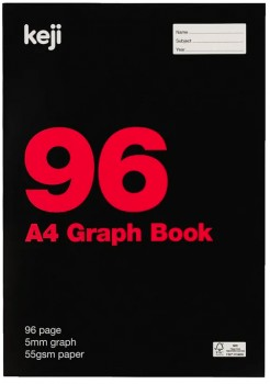 Keji-A4-96-Page-55gsm-Specialty-Exercise-Book-Graph on sale