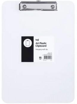 Keji-A4-Clear-Plastic-Clipboard on sale