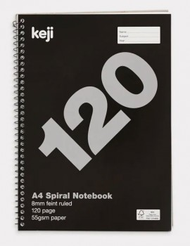 Keji-A4-120-Page-55gsm-Spiral-Notebook on sale