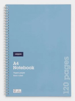 JBurrows-A4-120-Page-70gsm-Spiral-Notebook on sale