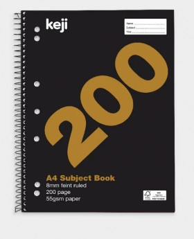 Keji-A4-200-Page-55gsm-5-Subject-Notebook on sale