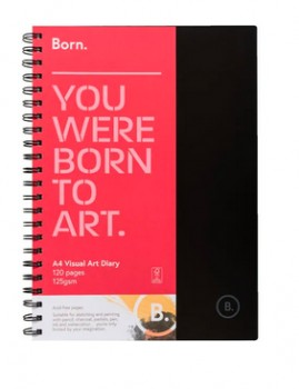 Born-A4-120-Page-125gsm-Visual-Art-Diary on sale