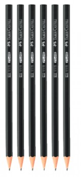 Faber-Castell-6-Pack-1111-Graphite-Pencils-HB on sale