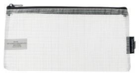 Studymate-Mesh-Pencil-Case-228-x-118mm-White on sale