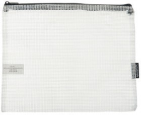 Studymate-Mesh-Pencil-Case-250-x-208mm-White on sale