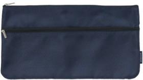 Studymate-Twin-Zip-Pencil-Case-Medium-Navy on sale