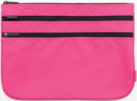 Studymate-Triple-Zip-Pencil-Case-Large-Pink on sale