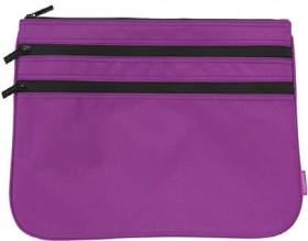 Studymate-Triple-Zip-Pencil-Case-Large-Purple on sale