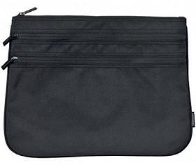 Studymate-Triple-Zip-Pencil-Case-Large-Black on sale