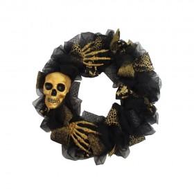 Gold-Skeleton-Wreath-35cm on sale