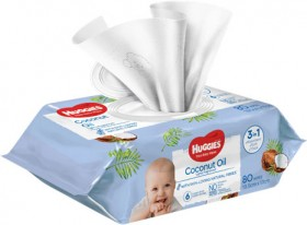 Huggies-80-Pack-Wipes-Coconut-Oil on sale