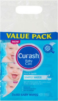 Curash-3-x-80-Pack-Water-Wipes on sale