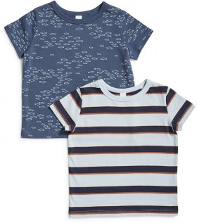Dymples-2-Pack-Organic-Cotton-Tees-Blue on sale