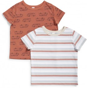 Dymples-2-Pack-Organic-Cotton-Tees-Ginger-White on sale