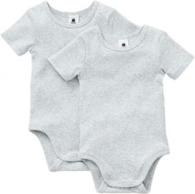 Dymples-2-Pack-Ribbed-Bodysuit-Grey on sale