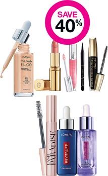 Save-40-on-LOral-Paris-Makeup-Skincare-Ranges on sale