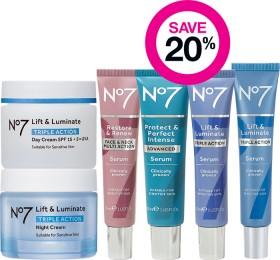 Save-20-on-No7-Skincare-Range on sale