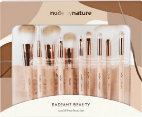 NEW-Nude-by-Nature-Radiant-Beauty-10-Piece-Brush-Set on sale