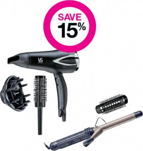 Save-15-on-VS-Sassoon-Beauty-Electrical-Range on sale