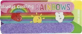 NEW-Sugar-Rush-House-of-Treats-Always-Chasing-Rainbows-Emery-Board-Trio on sale