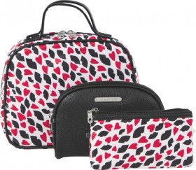 NEW-Models-Prefer-Red-Cosmetic-Bag-Set-3-Piece on sale