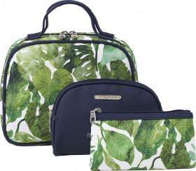 NEW-Models-Prefer-Leaf-Print-Cosmetic-Bag-Set-3-Piece on sale