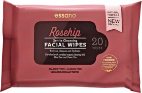 Essano-Rosehip-Gentle-Cleansing-Facial-Wipes-20-Wipes on sale