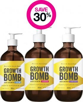 Save-30-on-Growth-Bomb-Haircare-Range on sale