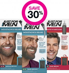 Save-30-on-Just-for-Men-Hair-Moustache-Beard-Colour-Ranges on sale